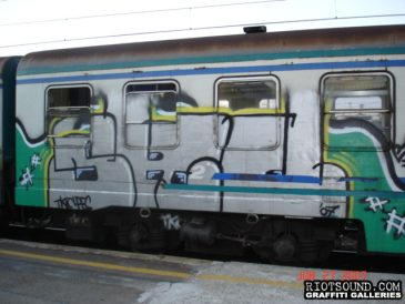 10 Train Car Graffiti Milan Italy 1