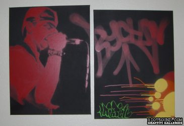 Aerosol Art On Canvas 1